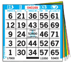 LOWEST PRICE- 1 on 6 up 100 Bingo Books  – CLOSEOUT