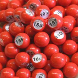 Small 7/8″ Red Raffle Ball 1-200