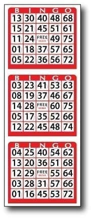 Pushout Die Cut 3 on V BINGO Paper – Case