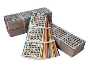 SMALL QUANTITY- 3 on 15 up 20 Bingo Books- CLOSEOUT
