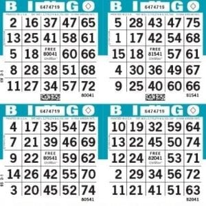 4-Face Square Bingo Paper Case