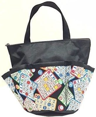 Bingo Chips – 10 Pocket Dauber Bag w/Zipper – Black