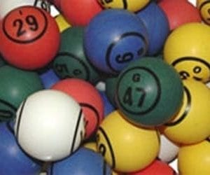 Multi Color Double Number Bingo Ball Set