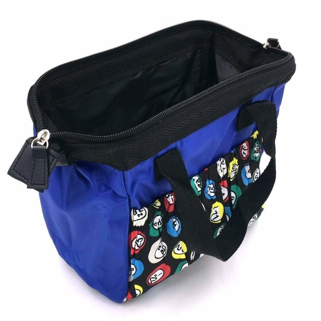 6 Pocket Bingo Dauber Nylon Tote Bag – Blue