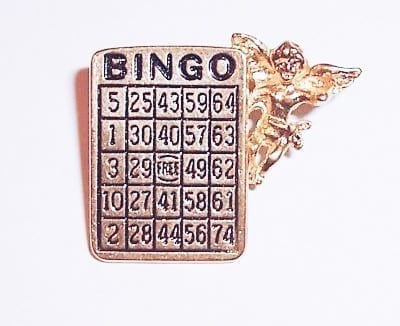 Lucky Bingo Angel Lapel Pin