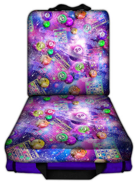 Cosmic Bingo Double Seat Cushion – Purple