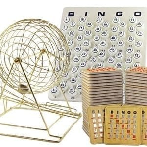 NEW - Extra Large Brass Ping Pong Cage Kit w/25 Cards