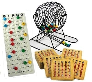 Deluxe Vinyl Bingo Cage Kit with 25 Deluxe Slide Cards