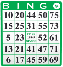 Single Bingo Hard Cards
