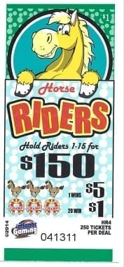 Horse Riders Bingo Event Ticket –  HR4 250 ct.