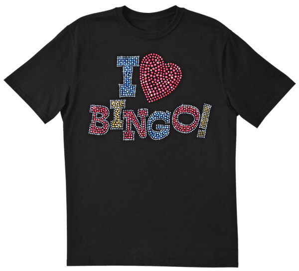 "Bling ""I Love Bingo"" Tee Shirt - Black"