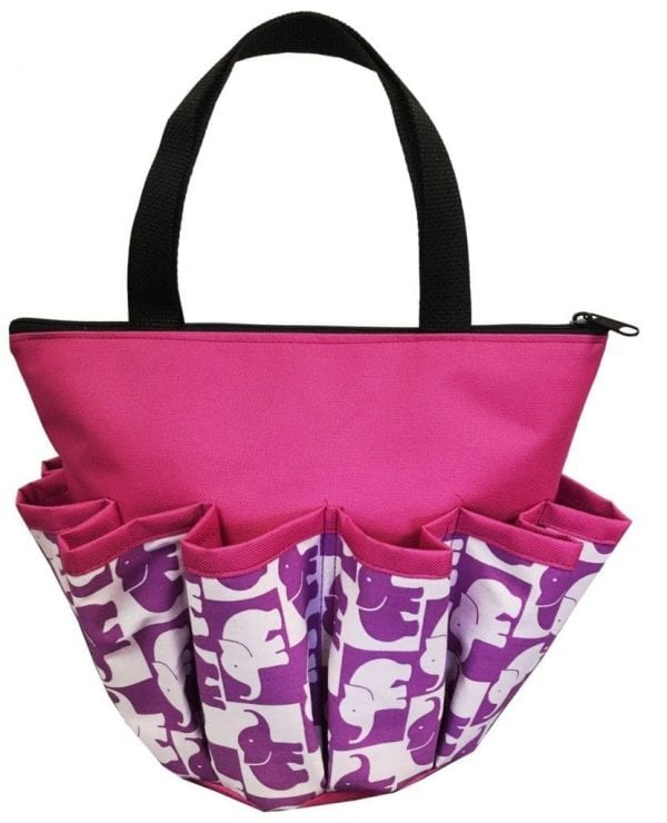 Lucky  Elephants 10 Pocket Dauber Bag w/Zipper - Purple