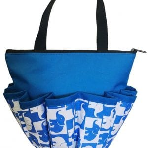 NEW - Lucky Elephants 10 Pocket Dauber Bag w/Zipper - Blue