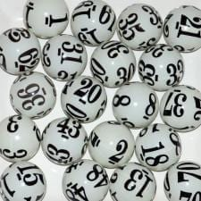 Six (6) Sided Keno Coated Bingo Ball 1-80