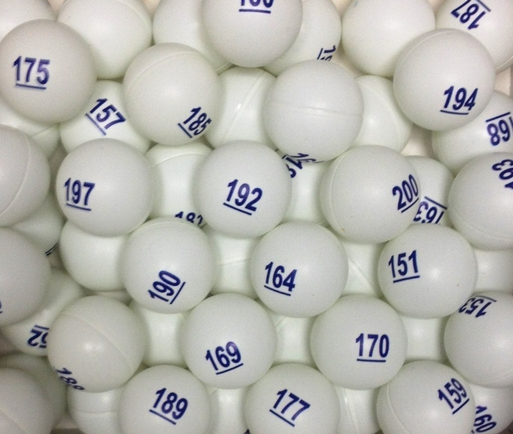 Raffle Balls Numbered 1-500