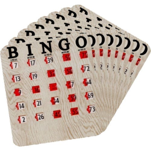 50 Pack Finger Tip Bingo Slide Cards - JAM PROOF Windows