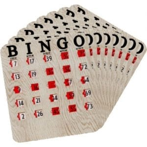SALE- 100 Pack Finger Tip Bingo Slide Cards - JAM PROOF Windows