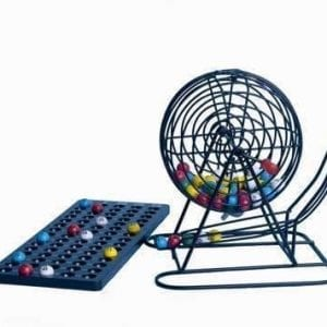 SALE- Vinyl Coated Bingo Cage with Masterboard and 5 Color Plastic Balls