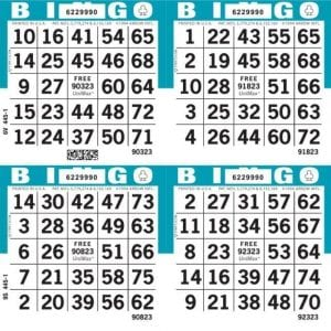 4-Face Square Bingo Paper - Package
