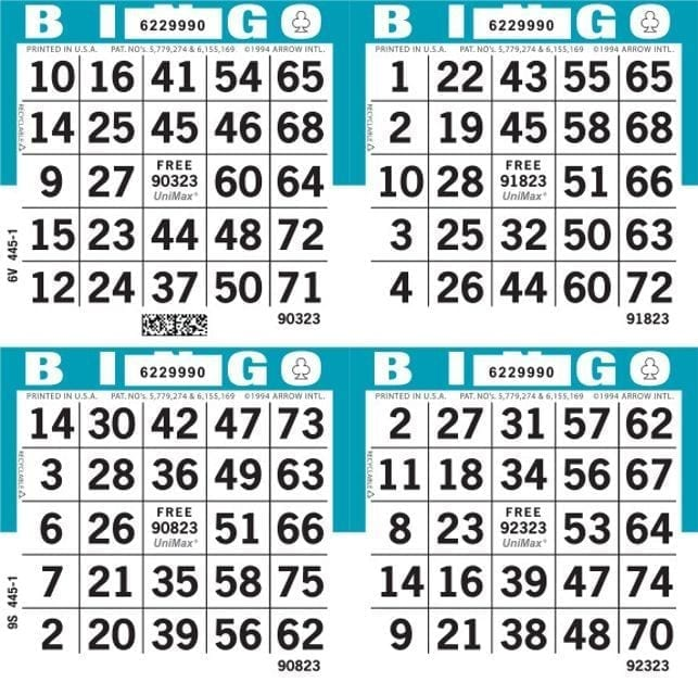 4-Face Square Bingo Paper – Package