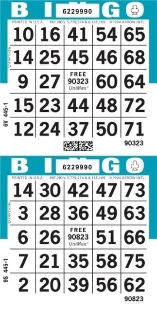 2-Face Vertical Bingo Paper – Package