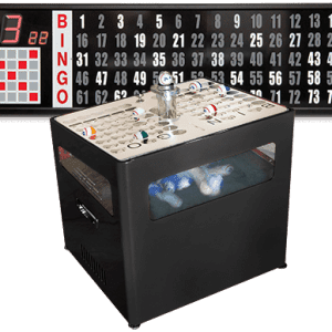 NEW- ULTRA SILENT - Black Professional Table Top Bingo Blower with Standard Electronic Flashboard