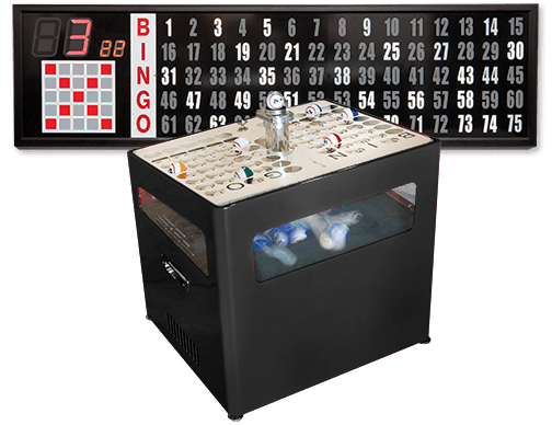ULTRA SILENT – Black Professional Table Top Bingo Blower with Standard Electronic Flashboard
