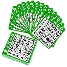 50 Plastic Coated Bingo Cards
