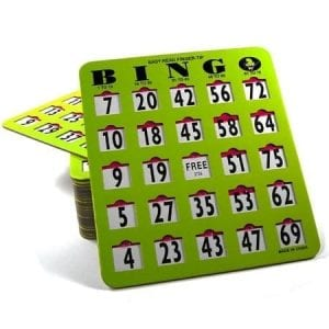 SALE- 25 Pack EZ Read Large Print Bingo Slide Cards - JAM PROOF Windows