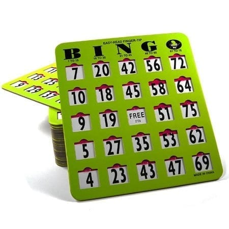 50 Pack EZ Read Large Print Bingo Slide Cards – JAM PROOF Windows