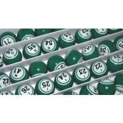 SALE- Green Double Number Bingo Balls