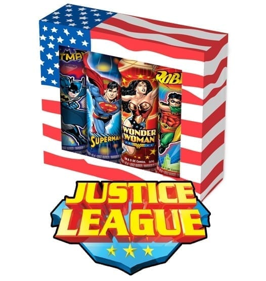 Justice League Gift Set Box (4 Pack)