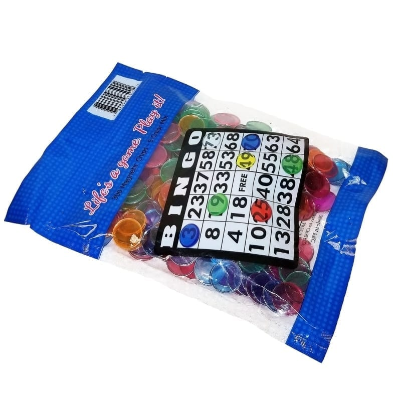 NEW- Bulk Magnetic Bingo Chips 300 Cnt.