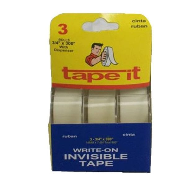 SALE- Write-On Invisible Tape 3 Pack