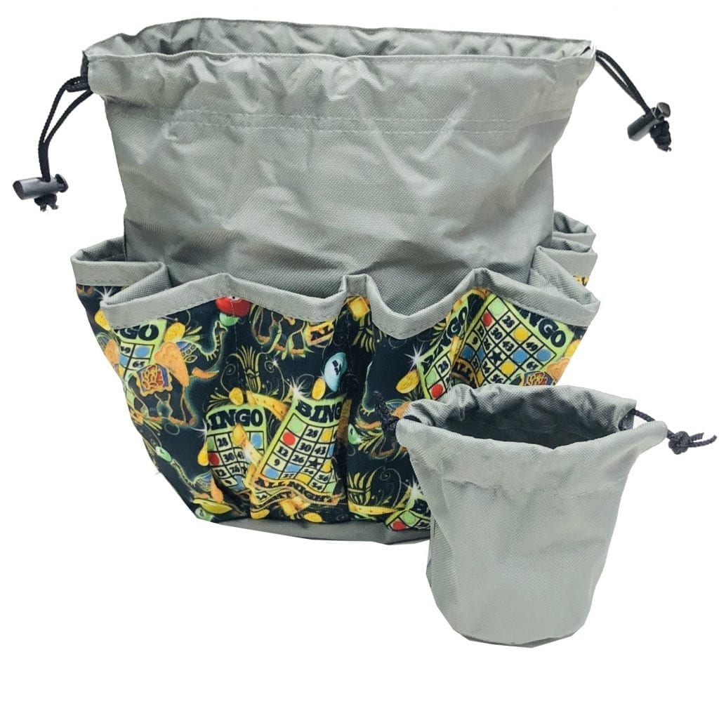 NEW- Lucky Elephant 10 Pocket Dauber Bag w/Drawstring – Gray