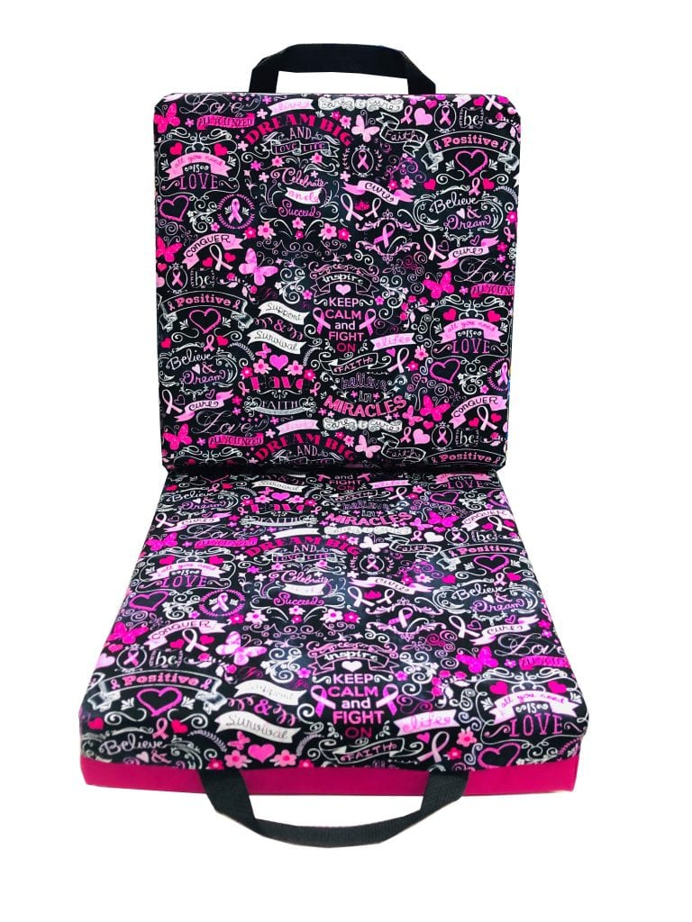 NEW- Breast Cancer Awareness Double Seat Cushion – Pink