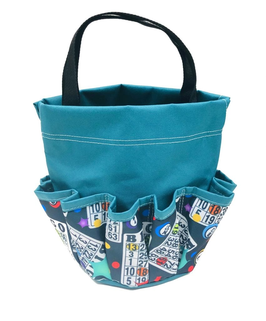 Stars 10 Pocket Dauber Bag w/Velcro- Teal