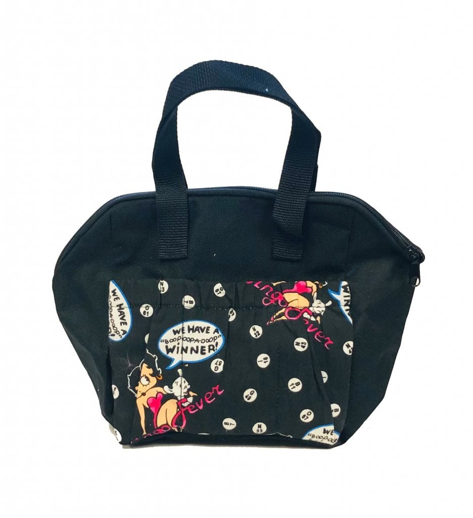 6 Pocket Betty Bingo Fever Tote Bag- Black