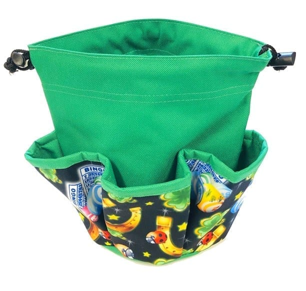 "NEW- 5 Pocket Mini ""Lucky Charms"" Canvas Dauber Bag – Green"