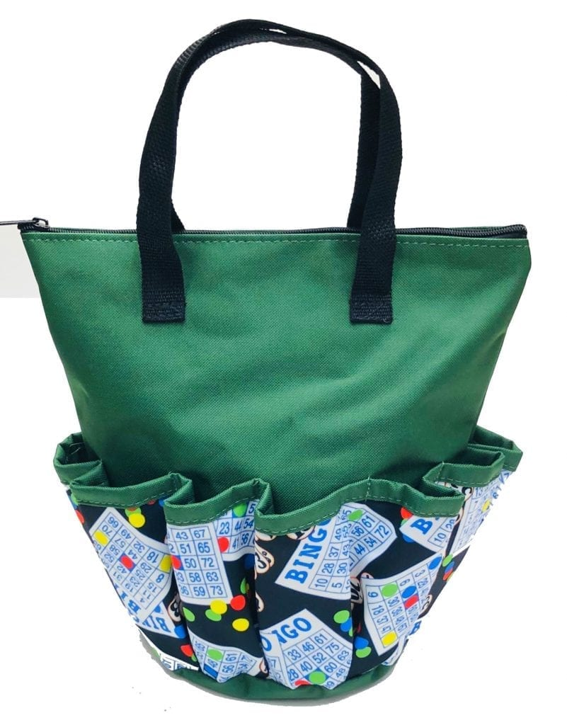 Bingo #1 – 10 Pocket Dauber Bag w/Zipper – Green