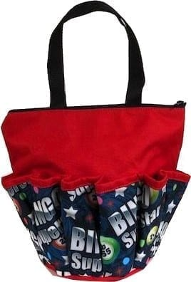 Bingo Superstar 10 Pocket Dauber Bag w/Zipper – Red