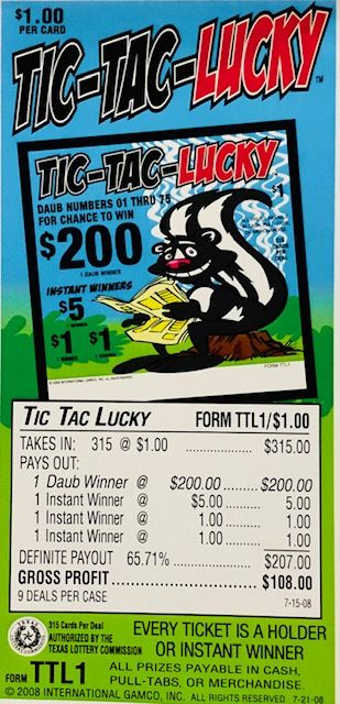 Tic Tac Lucky Event Ticket 315ct