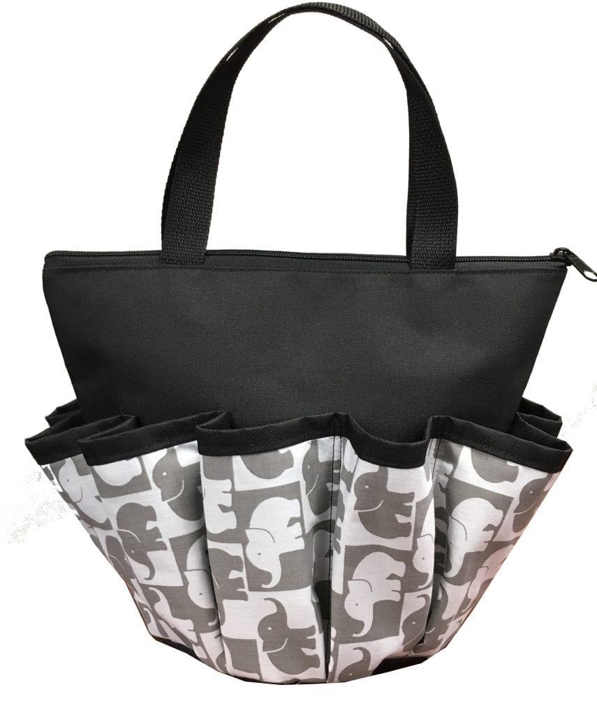 NEW- Lucky Elephants 10 Pocket Dauber Bag w/Zipper- Black