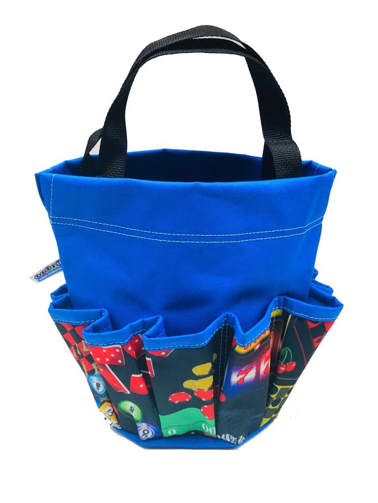 NEW- Game of Chance 10 Pocket Dauber Bag w/Velcro- Royal Blue