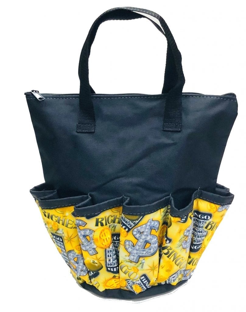 NEW- Riches 10 Pocket Dauber Bag w/Zipper – Black