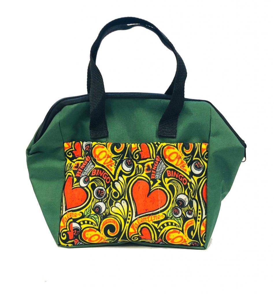 6 Pocket Bingo Love Dauber Tote Bag – Green