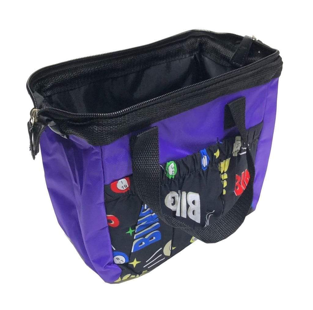 6 Pocket Cosmic Ball Dauber Tote Bag – Purple
