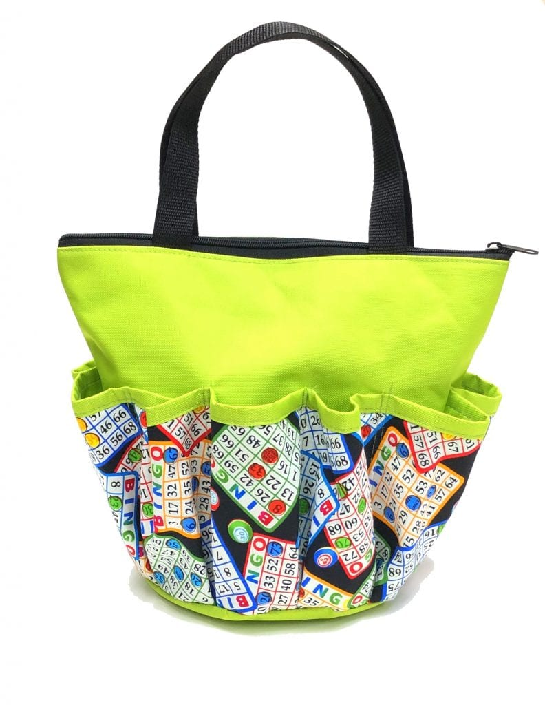 Bingo Chips 10 Pocket Dauber Bag w/Zipper – Lime