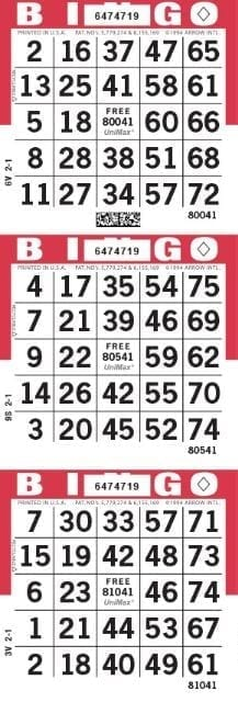 3 Face Heavy Stock Bingo Paper 250 Sheets – CLOSEOUT