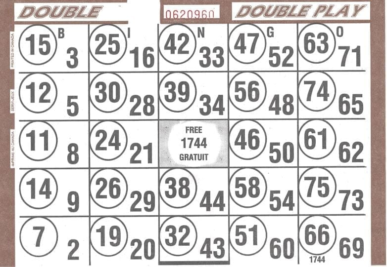 Double Play Bingo Paper Package